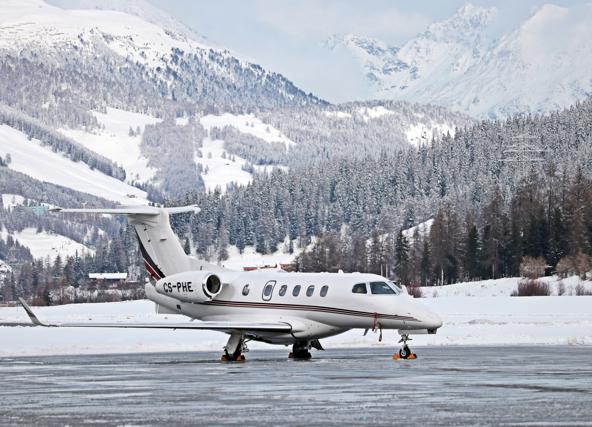 courier aircraft cold ice mountain landscape
